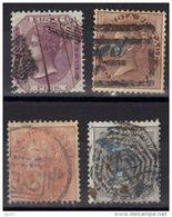 Inde Anglaise N° 10, 11, 13, 15 - 1858-79 Compagnia Delle Indie E Regno Della Regina