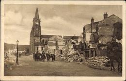 Cp Baccarat Meurthe Et Moselle, Kriegszerstörungen Im Ort - France