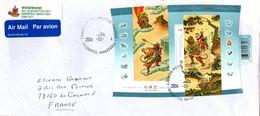 Bloc 2004 Année Du Singe - Year Of The Monkey - Lettre Winnipeg Manitoba - China Chinese Calendar Chinois - Blocks & Sheetlets