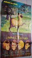 Ancienne Affiche De Cinéma Walt Disney L'espion Aux Pattes De Velours Chat Hamley Mills Dean Jones 80cm X 60cm - Posters