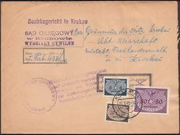Germany - POLAND, Generalgouvernement Dienstpost, SAD OKREGOWY W. KRAKOWIE, Bezirksgericht In Krakau, 25.3.1942. - Besetzungen 1938-45