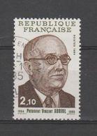 FRANCE / 1984 / Y&T N° 2344 : Vincent Auriol - Oblitéré 1985 01. SUPERBE ! - France