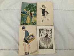 Lot 4 Femmes Illustrateur Corbella Gérard Et Divers - Illustrateurs & Photographes