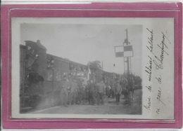94.- CHAMPIGNY  - Train De Militaires  Passant En Gare  ( Carte Photo ) - Champigny Sur Marne