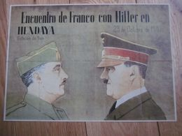 WW2 / PLANCHE DE BONS DE RATIONNEMENT 1940 1941 1942 FRANCO HITLER /LEGION CONDOR III REICH - [ 3] 1936-1975: Franco