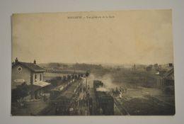 51 Marne Bouleuse Vue Generale De La Gare Trains Locomotive Vue Tres Rare - France