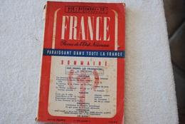 FRANCE REVUE DE L ETAT NOUVEAU N 16 - Français