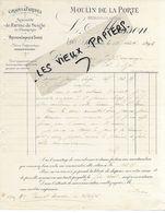 51 - Marne - SEZANNE - Facture MASSON - Moulin De La Porte, Grains, Farines - 1896 - REF 159A - France