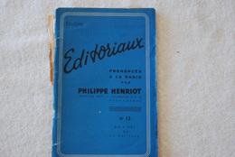 EDITORIAUX PRONONCE A LA RADIO DE PHILIPPE HENRIOT N 12 DU 9 AU 17 MAI 1944 - Français