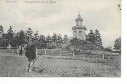 EMPTINNE   L' Horloge Dans Le Parc Du Château. Avec 1 Homme Qui Fauche Le Pré. - Ciney