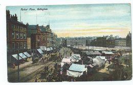 Nottingham Marketplace Postcard Nottinghamshire Beeston Squared Circle Cancel. - Nottingham