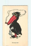 Pelican Fumant Le Cigare Et Ses Dollars - Schwiegervater : Le Beau-père - Carte Illustrateur Humoristique - 2 Scans - Vögel
