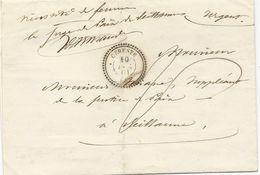 LETTRE EN FRANCHISE POSTALE 1861 AVEC CACHET TYPE 22 DE CERESTE - Marcophilie (Lettres)