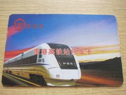 CRH Railway Station Parking Card, With Picture Of Express Train - Télécartes