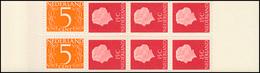Markenheftchen 1 Königin Juliane Und Ziffer 1964, UV Matt, Deckel Rosa ** - Booklets