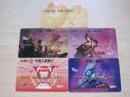 China ICBC Bank,commemorative Card, Internet Games, Set Of 5 - Phonecards