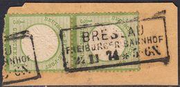BRUSTSCHILD Nr.17a Senkrechtes Paar Saubere Preussen-Ra3 BRESLAU FREIBURGER BAHNHOF Geprüft Hennies BPP (hk20) - Gebraucht