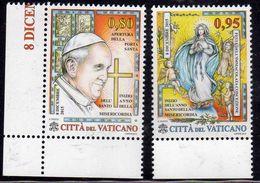 CITTÀ DEL VATICANO VATIKAN VATICAN 2015 ANNO SANTO DELLA MISERICORDIA HOLY YEAR OF MERCY SERIE COMPLETA COMPLETE SET MNH - Vatican