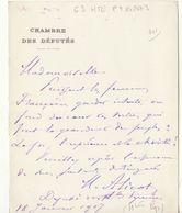 Hautes Pyrénées, 1907, Lettre Autographe Du Député Alicot - Autographes