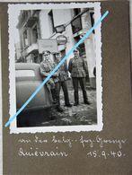 Photo QUIEVRAIN Quiévrain Région Thulin Valenciennes Frontière Occupation Officiers Soldats Allemands Wehrmacht 1940 - Lieux