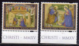 CITTÀ DEL VATICANO VATIKAN VATICAN 2015 NATALE DA LIBRETTO CHRISTMAS FROM BOOKLET NOEL SERIE COMPLETA COMPLETE SET MNH - Vatican