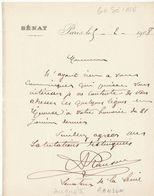 Seine, 1907, Lettre Autographe Sénateur Auguste Ranson - Autographes