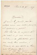Côte D'Or, 1907, Lettre Autographe Sénateur Anatole Philipot, Propriétaire Agricole - Autógrafos