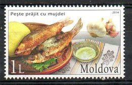 MOLDAVIE. Timbre Oblitéré De 2014. Gastronomie Moldave. - Alimentation