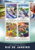 DJIBOUTI 2016 ** Summer Games Rio 2016 Olympische Spiele M/S - OFFICIAL ISSUE - A1614 - Verano 2016: Rio De Janeiro