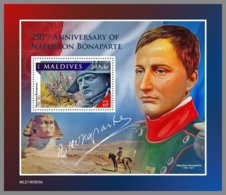 MALDIVES 2019 MNH Napoleon Bonaparte S/S - OFFICIAL ISSUE - DH2007 - Franse Revolutie