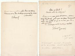 Haute Loire, 1907,  Lettre Autographe Sénateur Ernest Vissaguet - Autógrafos