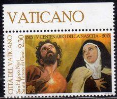 CITTÀ DEL VATICANO VATIKAN VATICAN 2015 SANTA TERESA DI GESÙ E SAN FILIPPO NERI € 2,30 MNH - Vatican