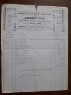L24/175 Ancienne Facture. Charolles. Appareils D'éclairage Jeandeau Fils . 1869 - 1800 – 1899