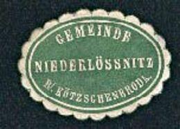 Niederlössnitz Bei Kötzschenbroda Gemeinde Verschlussmarke Um 1900 Heute Radebeul - Vieux Papiers