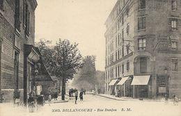 CARTE POSTALE ORIGINALE ANCIENNE : BILLANCOURT  LA RUE DANJOU  ANIMEE  HAUTS DE SEINE (92) - Boulogne Billancourt