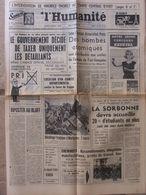 Journal L'Humanité (10 Oct 1963) Maurice Thorez - Accident Avion Marignane - Force De Frappe - Sorbonne - Ben Bella - 1950 à Nos Jours
