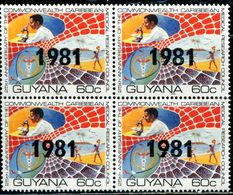 AP1791 Guyana 1981 Tropical Disease Research Plus Block Of 4 - Salute