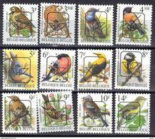 Belgique Timbres Préoblitérés Oiseaux ,12 Timbres Différents (*) - Typografisch 1986-..(Vogels)