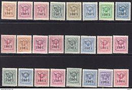 Belgique Timbres Préoblitérés Chiffre Sur Lion 1963-1966, 24 Timbres Différents - Typografisch 1951-80 (Cijfer Op Leeuw)