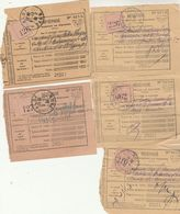 Lot De 5 Récépissés 517 - 2 Recommandés Pour Réfugiés Espagnols Agde Barcares Septfonds St Cyprien Perpignan Description - Postmark Collection (Covers)