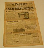 L'Espoir Du 10 Mai 1945.(la France Totalement Libérée) - Français