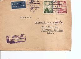 Pologne ( Lettre Recommandée De 1947 De Skrvilno Vers Les USA à Voir) - 1944-.... Republic