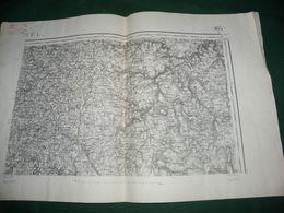 CARTE D ETAT MAJOR :  USSEL - Topographical Maps