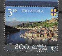 CROATIA, 2020, MNH , 800  YEARS OFC TY OF NOVIGRAD, MOUNTAINS, BOATS, VIEWS,1v - Geography