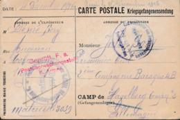 Prisoner Of War To Belgian POW In Germany, Kriegsgefangenenlager Havelberg Posted From Belgium 4.12.1916  (G104-64) - Militaria