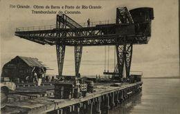 Rio Grande  - Brasil // Obras Da Barra E Porto De Rio Grande - Atransbordador Do Cocuruto 19?? RARE - Brésil