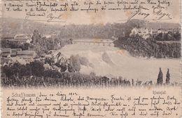 SUISSE 1902  CARTE POSTALE DE SCHAFFHAUSEN RHEINFALL - SH Schaffhausen