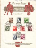 Grenzgau Baden Schöner Beleg Von 1938 - Germany