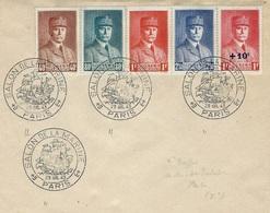 29-7-43 - Pétain  T P 470,71,72 ,73 + 494  Oblit. Du Salon De La Marine - Storia Postale