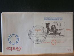 88/836    FDC      CONGO 1967 - FDC